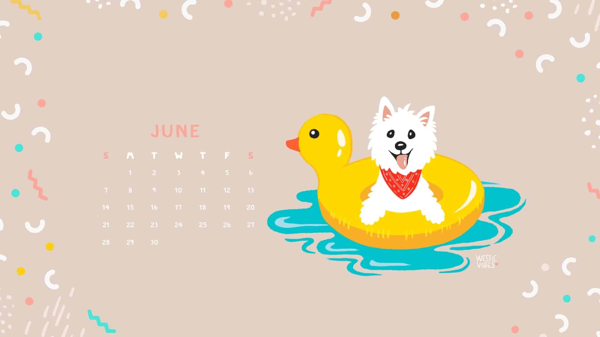 June Calendar Wallpaper Westie Vibes Desktop